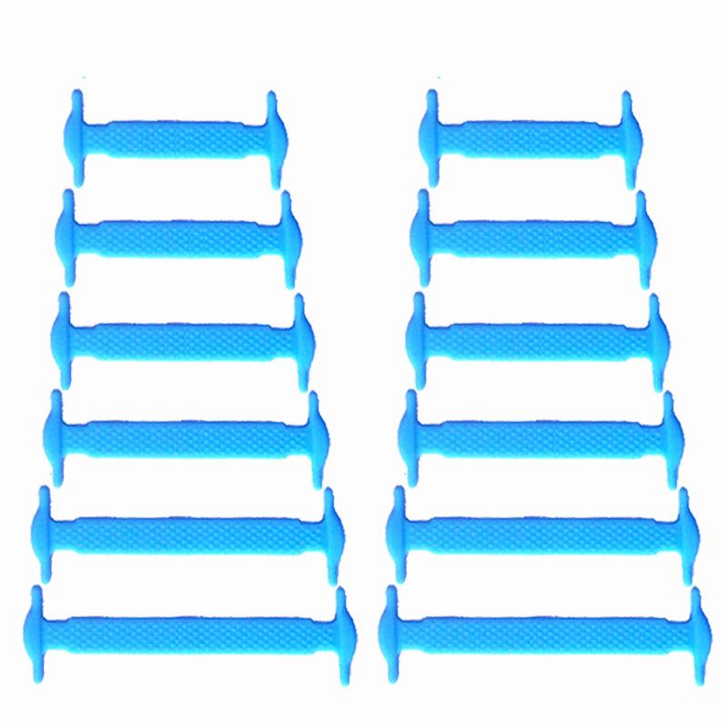 Спортивный Нет Связующие шнурки Эластичные силиконовые кружева Все спортивные туфли Sneaker Fit JUPHAIR Голубое небо