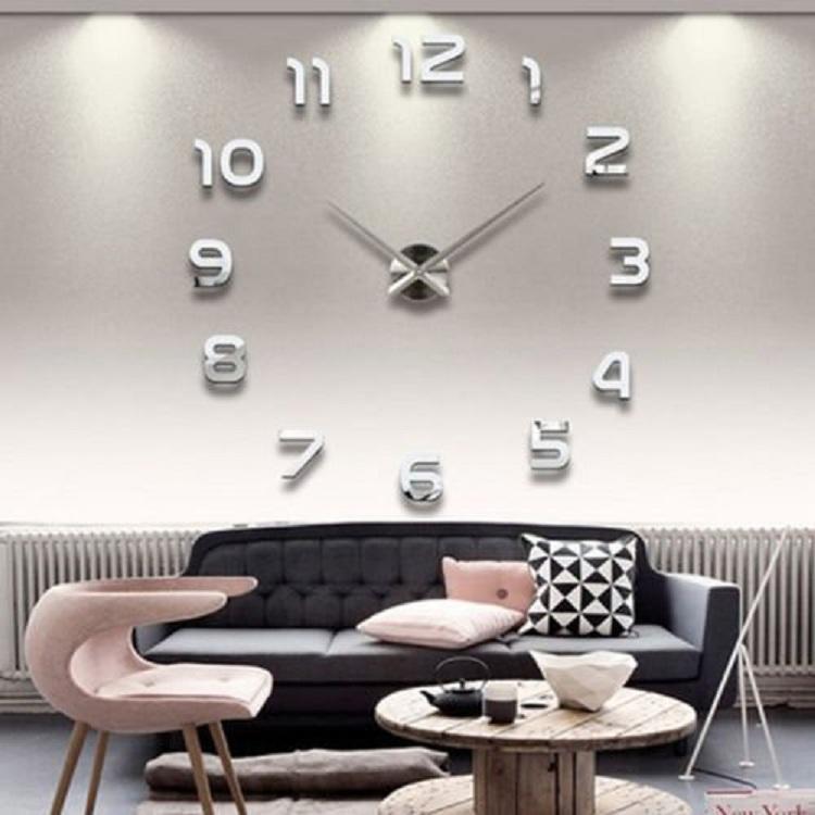 Часы настенные часы настенные часы электронные электронные настенные декоративны suwumu Серебристый цвет фото