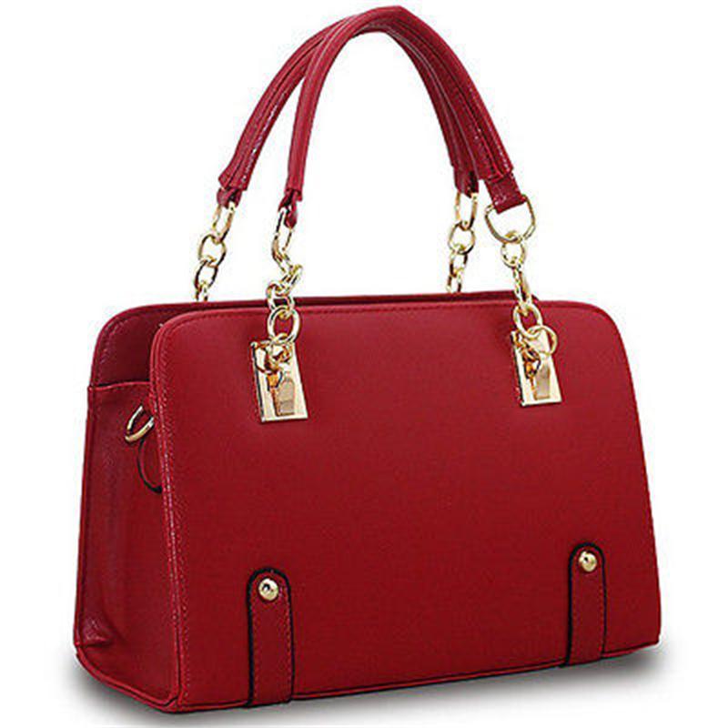 CANIS Красный цвет женщины кожа pu плеча tote сумки хо��о сумки сумка сумка кошелек