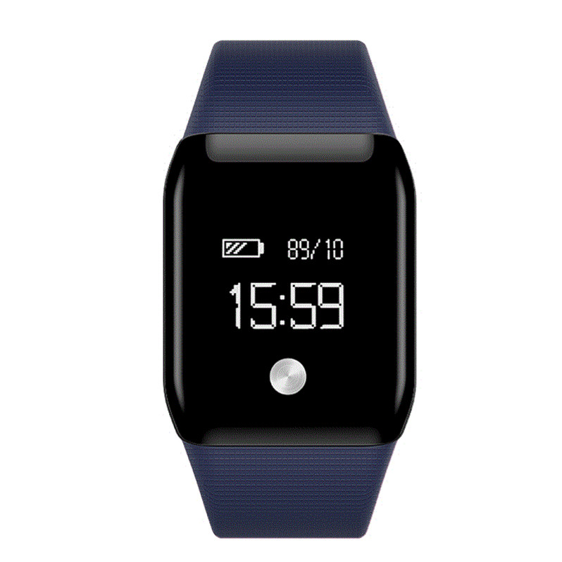 feizhouying синий Смарт-браслет sports men watch smart bracelet fitness tracker heart rate monitor wristband pedometer sleep monitor watch for android phone ios