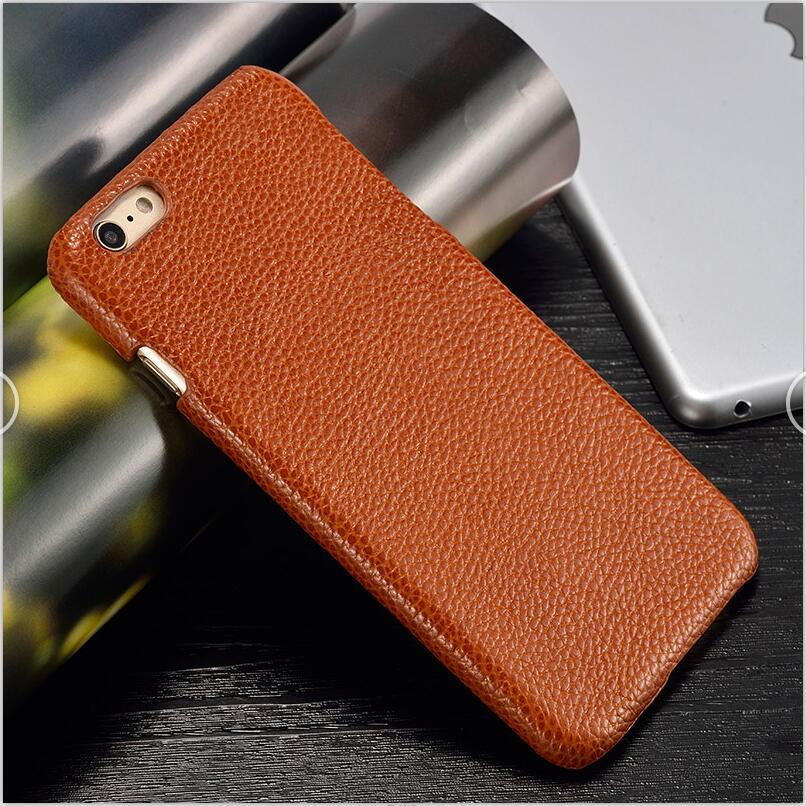 langsidi Светло-коричневый iPhone 6 6s Plus чехол из натуральной кожи для iphone 6 6s plus case litchi texture back cover для iphone 6 7 8 plus x case