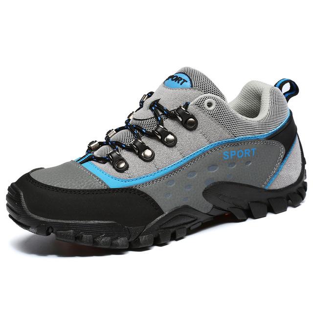 Мужские кроссовки Большая дышащая обувь для походов Sisjuly Серый 41 фото