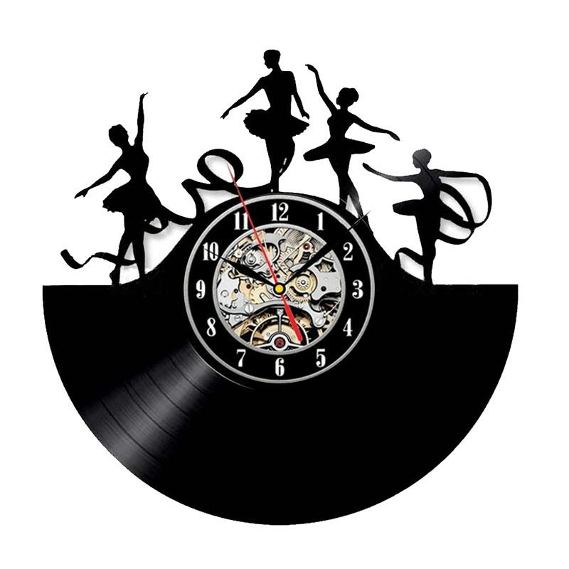 Танцевальные настенные часы BOGAO черный фото