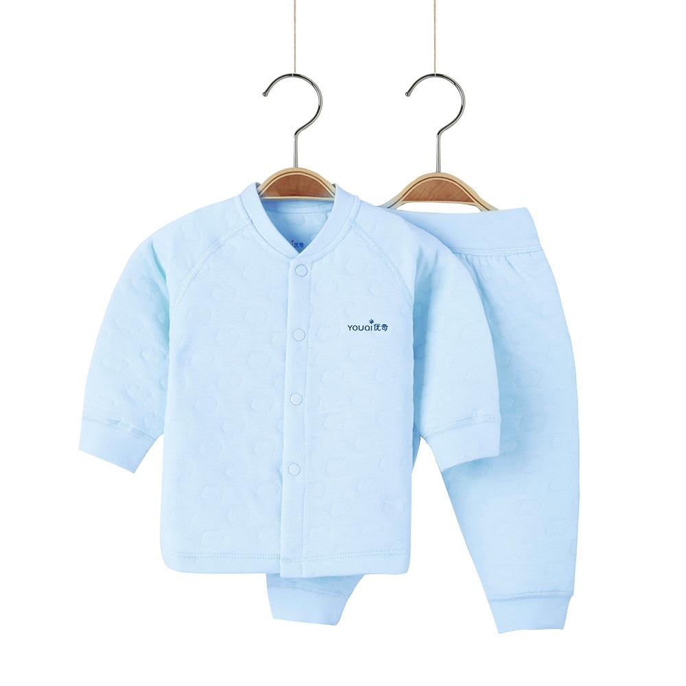 Одежда для девочек одежда для детей одежда для малышей костюм для пижам с Синий цвет 3-6 Months фото