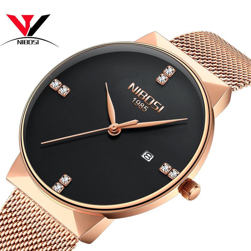 NIBOSI Золотые женские часы