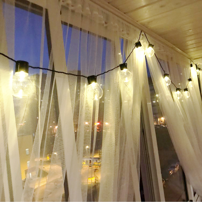 JULELYS Теплый белый 110V -240V 25m 10 Лампы julelys 10m x 2m 640 bulbs led свадебный занавес light outdoor christmas garland string lights украшение для hilday party garden