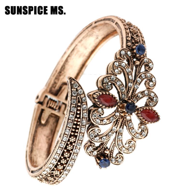 SUNSPICE MS Blue мода ювелирные изделия медь мужчины и женщины любовь браслеты браслеты гвозди манжеты браслеты ювелирные изделия