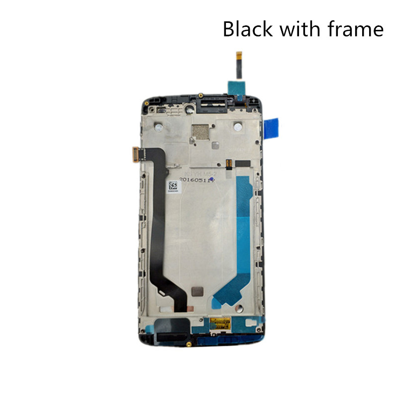 jskei Назад с рамкой 10pcs lot high quality 5 0 for lenovo p70 p70t lcd display screen with touch screen digitizer assembly free shipping