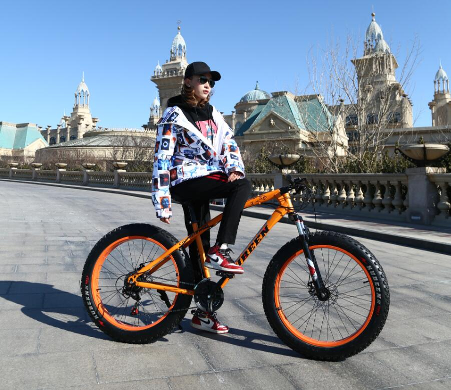 KUBEEN Оранжевый цвет21speed Железо usd 6 fat wide fat fork 26 air suspension bicycle front fork for mtb 26 4 0 26 4 5 26 4 8 snow bike fat bike beach bike ebike
