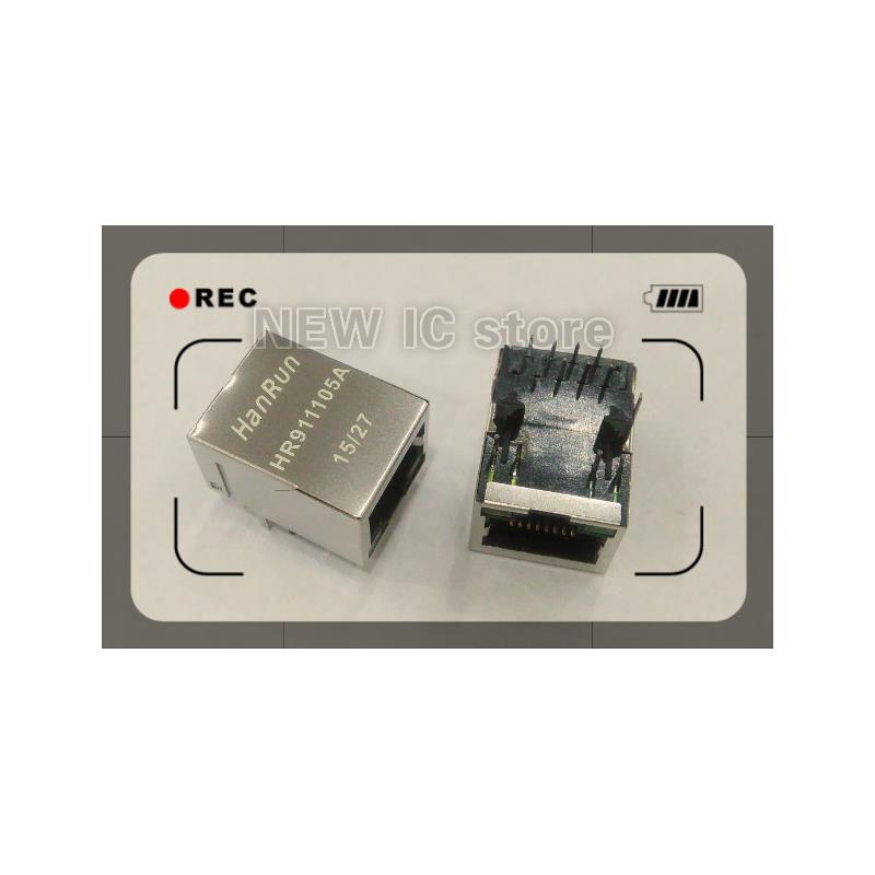 IC free shipping 10pcs lot hr911105a wiznet hr911105 hanrun single port rj45 connector o 100% new original