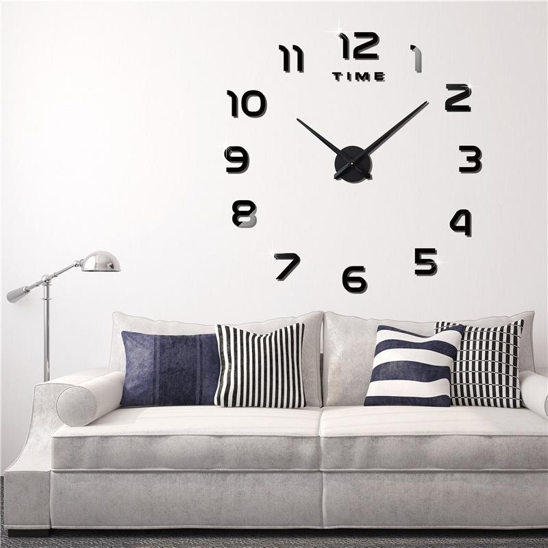 luluhut Золотой цвет настенные часы oem diy 3d relogio cozinha