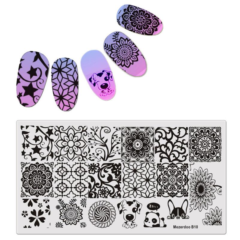штемпелюя для ногтей цветы лист шаблон для ногтей штамповка бабочка изображение штамповка печать nail art templates diy manicure stamp tools 12 6cm