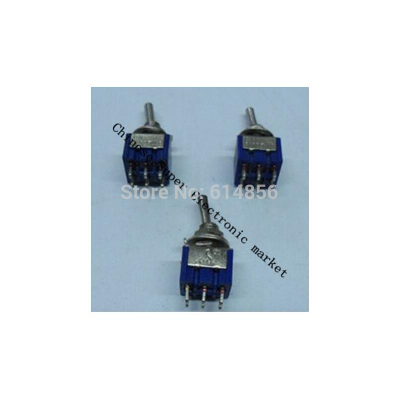 IC 5pcs toggle switch 6a 125vac 6 pin dpdt on on mini toggle switch switches mts 202 m126 hot sale