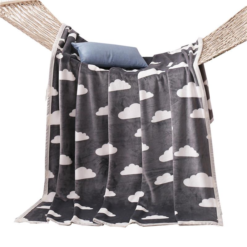 Постельное бельё Рулонные одеяла Бросьте одеяло кровать Одеяло диваны одеяло Рабочее одеяло iDouillet Серый Clould 120x200cm фото