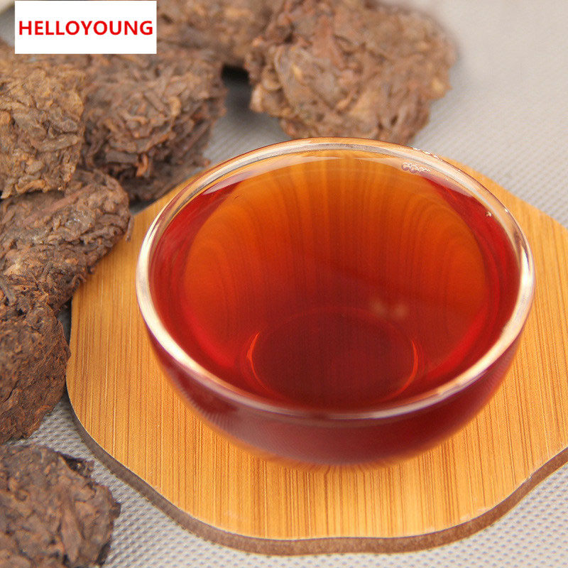 HelloYoung yunnan pu er tea raw puer tea 100g puerh tuo cha pu erh old tree pu er tea green food china resistant brewing bright color sweet
