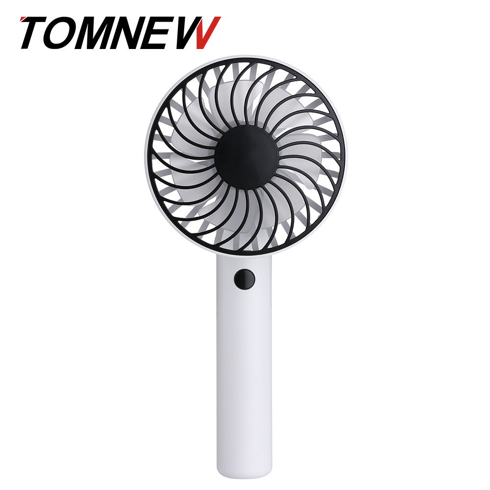Handy вращающийся вентилятор Mini USB аккумуляторная 1200mAh портативный портативный TOMNEW белый фото