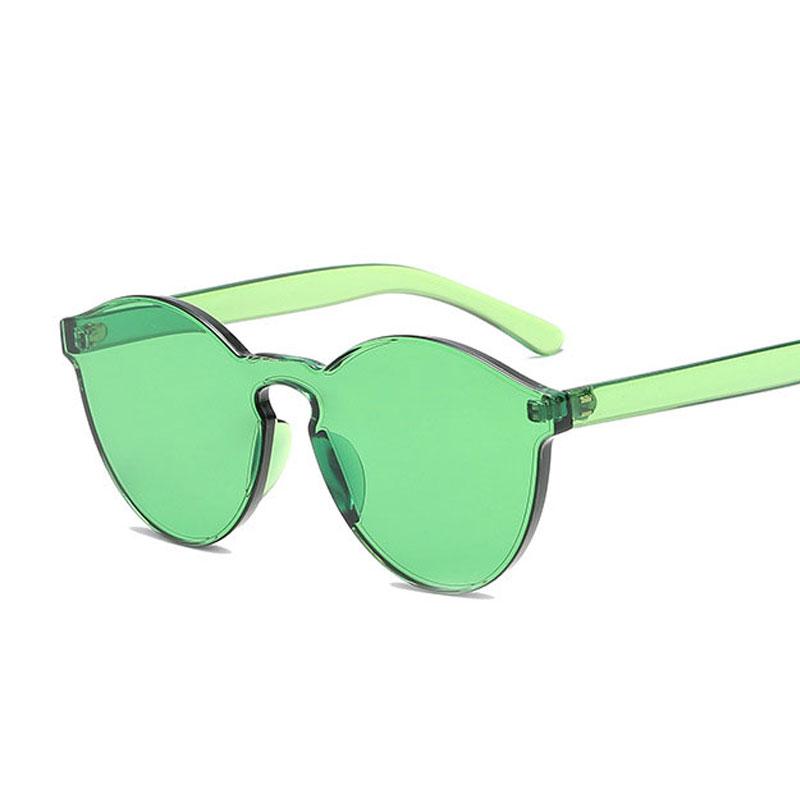 LIKEU S NO3 Зеленый Круглый солнцезащитные очки для девочек colorexclusive sungl 001