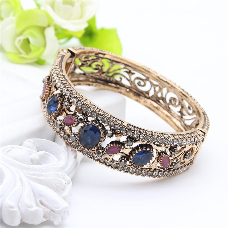 SUNSPICE MS Blue браслет браслеты браслеты браслеты турецкие симметричные ювелирные изделия цветочного искусства