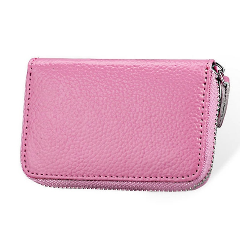 CANIS Розовый high quality women pu leather small mini wallet credit card id holder with key ring ladies change coin purse clutch bags handbag