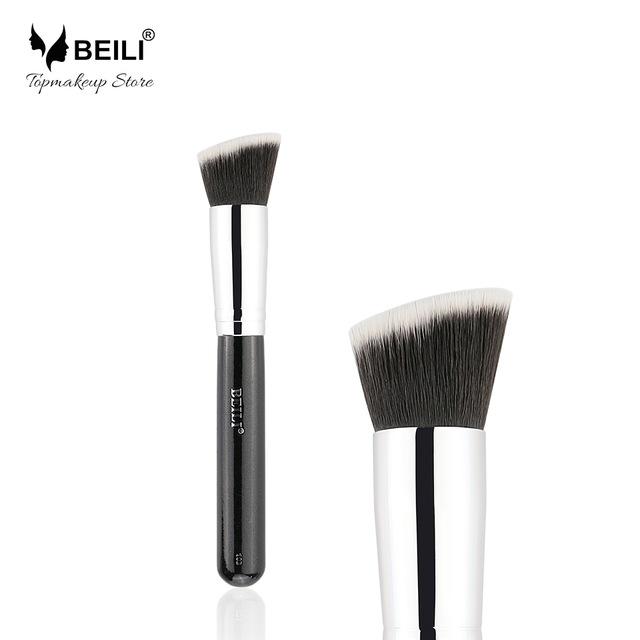 Чёрный цвет beili single 104 flat kabuki single synthetic hair face для умывальника румяна черная макияжная кисть