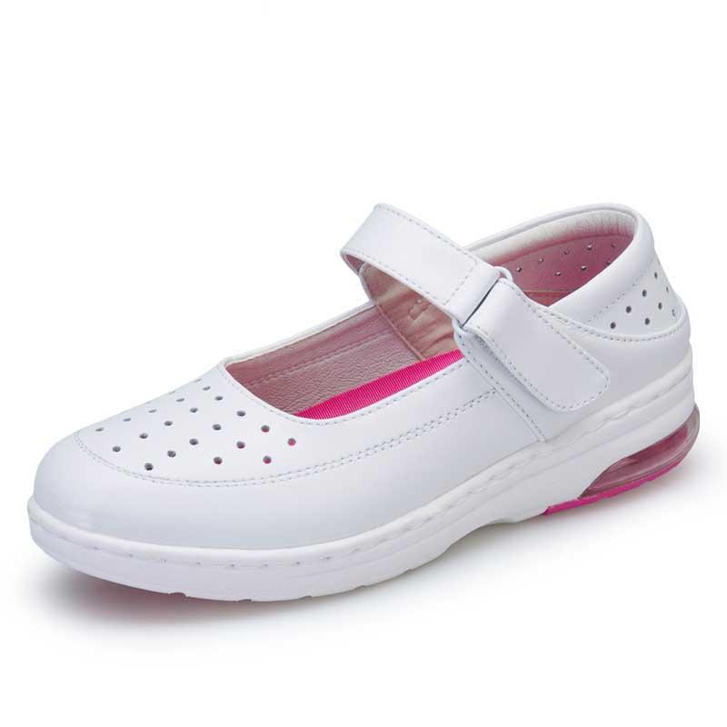 WOBAILE Белый 7 сестра туфли туфли xiaobai противоскользящий мягкий дно белый спецобуви пар обуви одной маме туфли