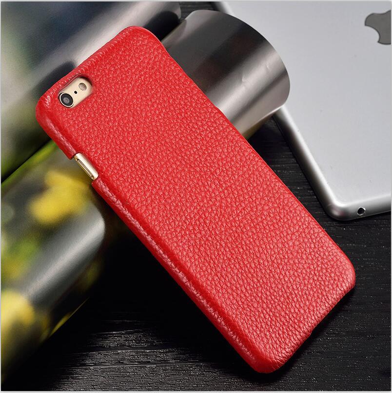 langsidi красный iPhone 6 6s Plus чехол из натуральной кожи для iphone 6 6s plus case litchi texture back cover для iphone 6 7 8 plus x case