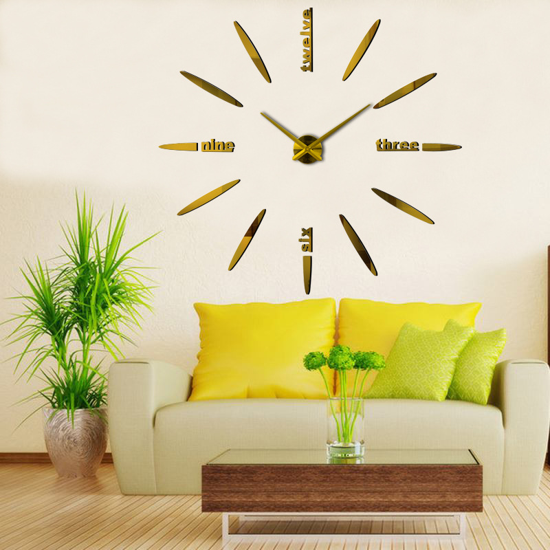 Часы настенные часы настенные часы электронные электронные настенные декоративны suwumu Золотой цвет фото
