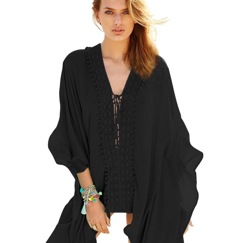 HeLenRed черный Свободный размер white crochet trim shoulder tie with tassel camis