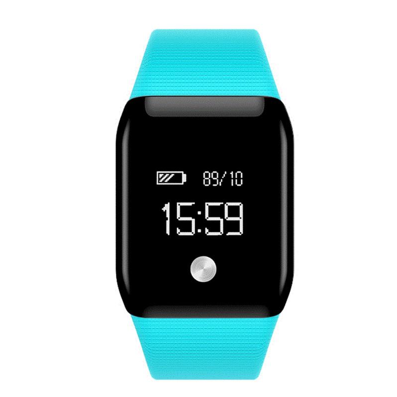 feizhouying Голубой Смарт-браслет sports men watch smart bracelet fitness tracker heart rate monitor wristband pedometer sleep monitor watch for android phone ios
