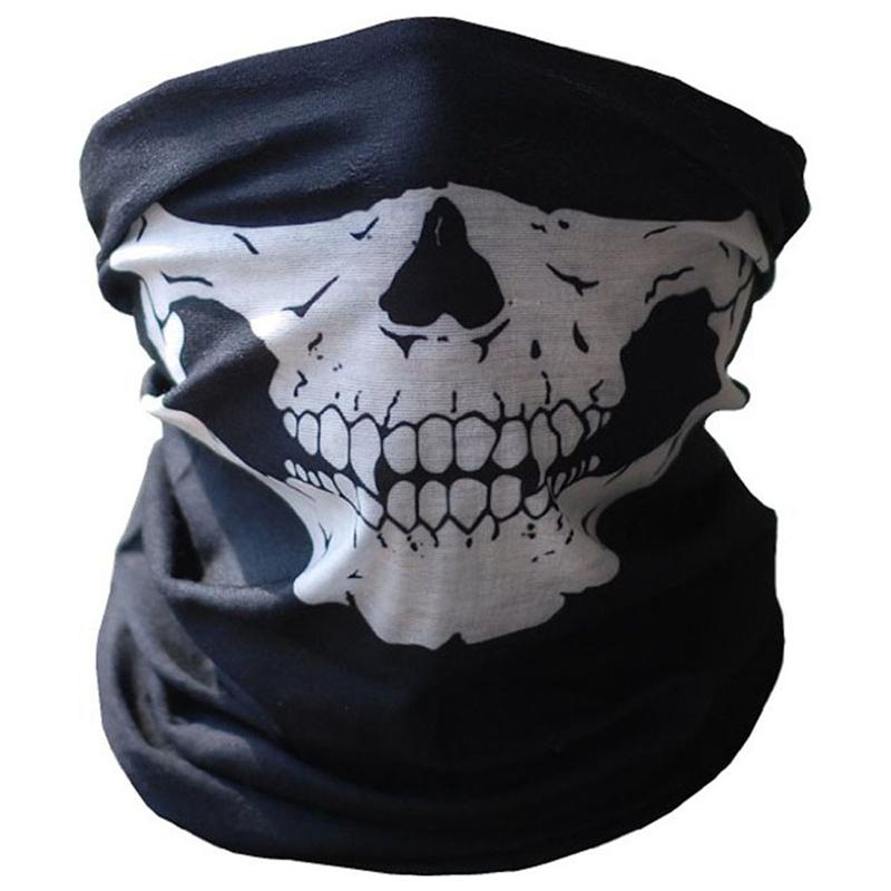 Маска черепа хеллоуина CXSHOWE Белый фото