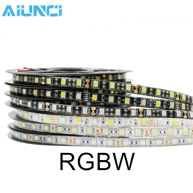 AIUNCI RGBW Black PCB No Waterproof black 20mm band width rubber wrist watch band strap stainless steel pin buckle 2 spring bars