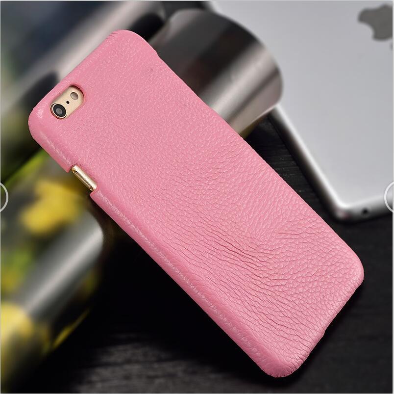 langsidi розовый iPhone 6 6s Plus чехол из натуральной кожи для iphone 6 6s plus case litchi texture back cover для iphone 6 7 8 plus x case