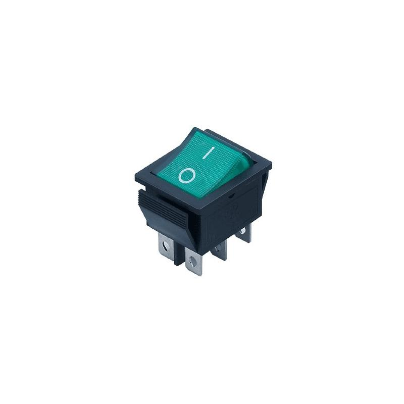 IC 1pc rocker switch ac 250v 15a 125v 20a red lamp dpst dpdt 4pin 6pin on off rocker switch