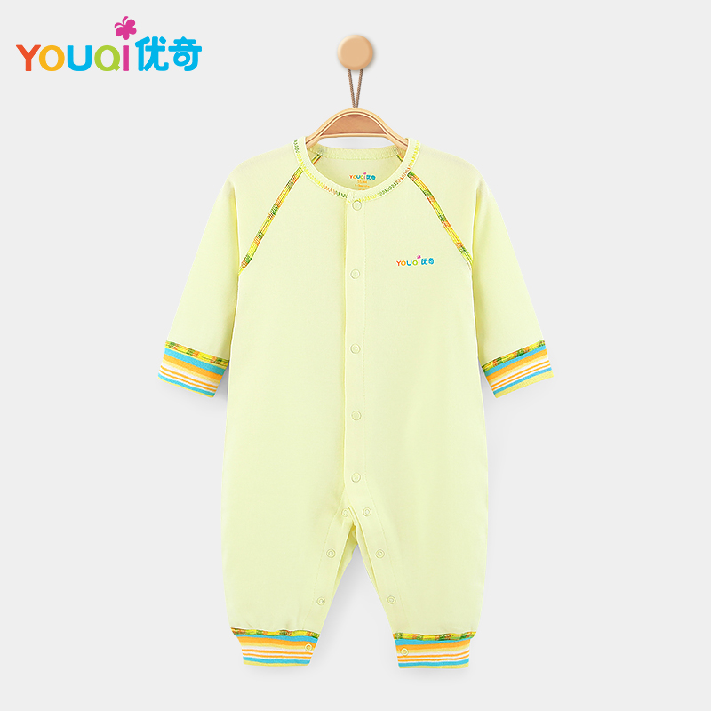 Жёлтый цвет 3-6 Months newborn baby boy girl infant warm cotton outfit jumpsuit romper bodysuit clothes