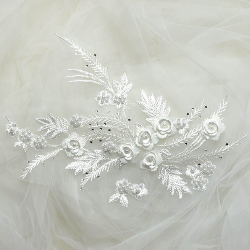 Zbroh White обрезка буквенных патчей многоцветная вышивка кружева аппликация diy аксессуар