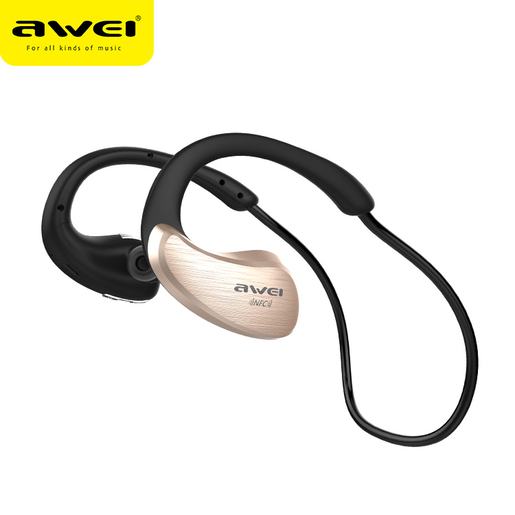 AWEI Роскошный золотой беспроводные наушники monster isport freedom wireless bluetooth on ear green