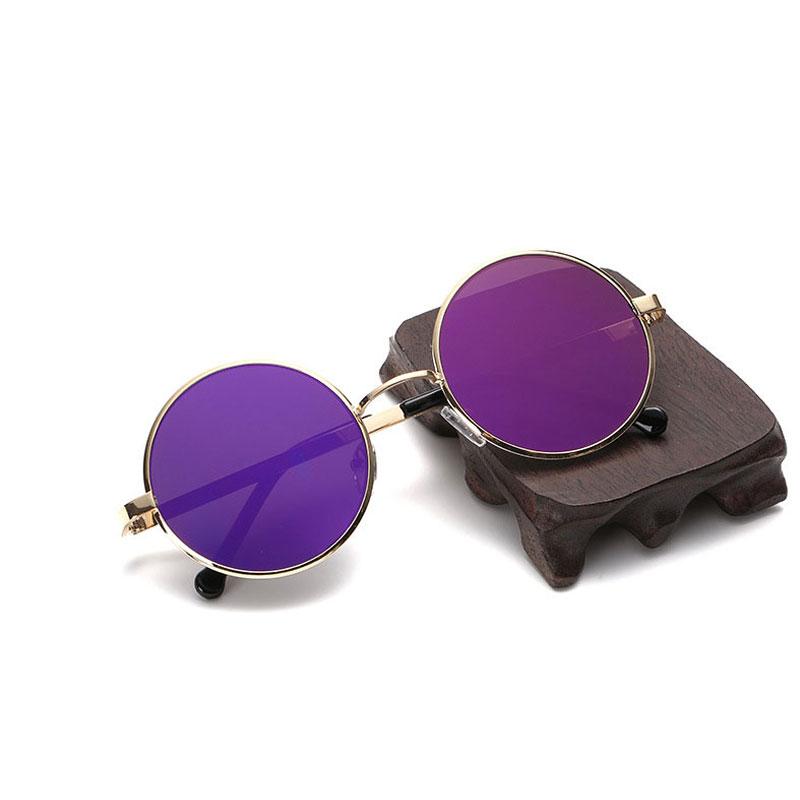 Классические солнцезащитные очки LIKEU S NO8 Золото и фиолетовый
