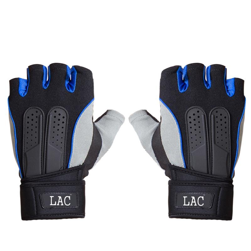 LAC Фитнес перчатки синий M дефолт