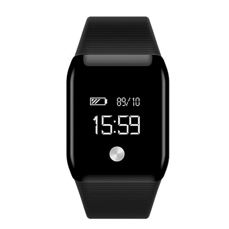feizhouying черный Смарт-браслет sports men watch smart bracelet fitness tracker heart rate monitor wristband pedometer sleep monitor watch for android phone ios
