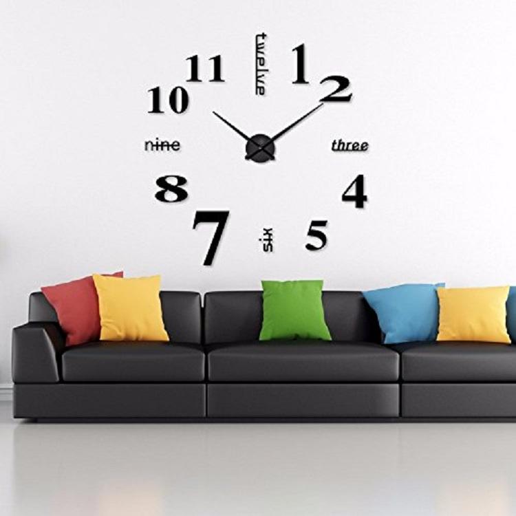 Часы настенные часы настенные часы электронные электронные настенные декоративны suwumu Чёрный цвет фото