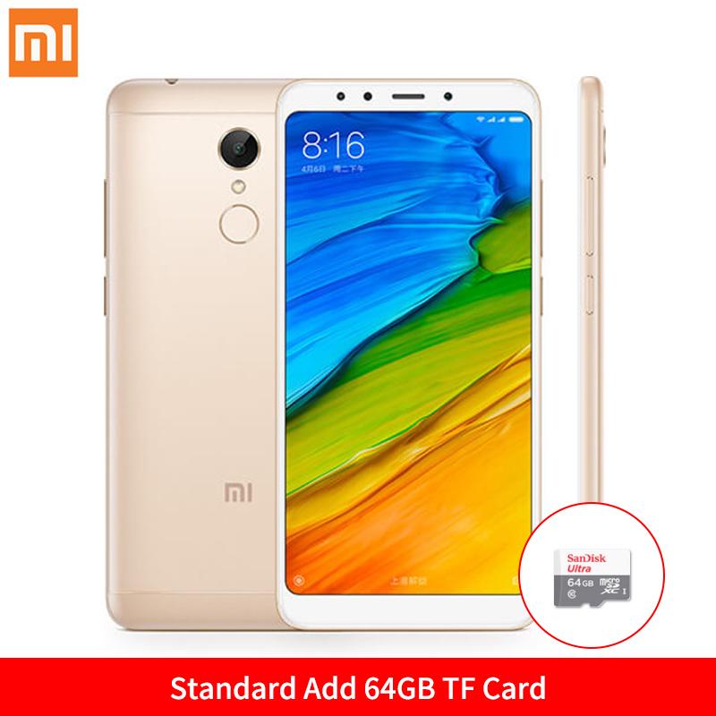 Mi Стандартное золото Добавить карту на 64GB TF Стандарт ЕС глобальная версия xiaomi redmi 5 3gb 32gb смартфон 18 9 полный экран 5 7 hd дисплей snapdragon 450 octa core 12mp камера miui 9