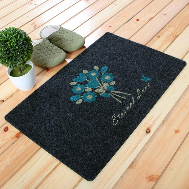 FOOJO Полуночно-синий богатый рейтинг foojo кухня моющийся нескользящие коврики для вытирания ног 45 120см черный фон с синими цветами