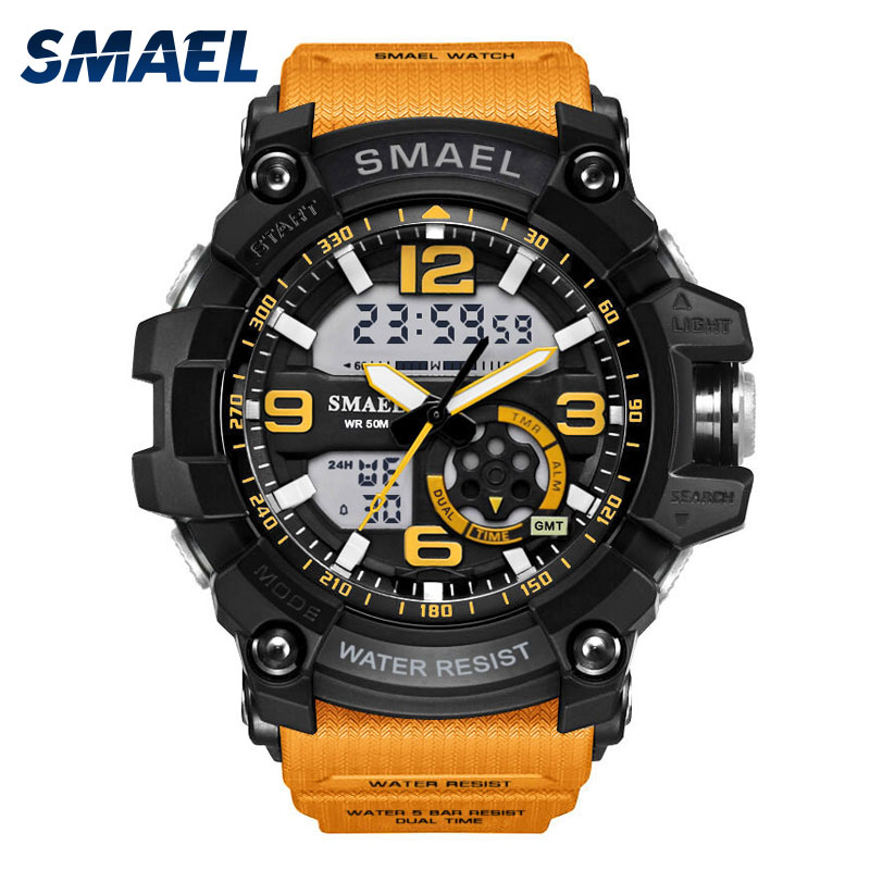 smael Серебряный weide casual genuine men watches luxury brand watch quartz analog men sport leather watches waterproof schocker clock army watch