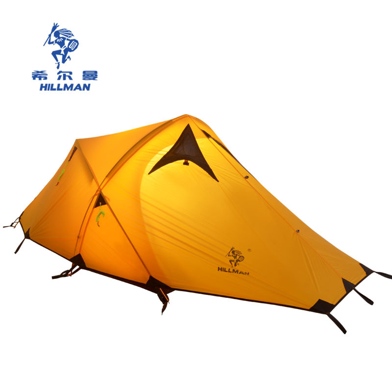 HILLMAN желтый outdoor winter tent aluminum alloy mountaineering tourist tents ultralight camping tent 1 person