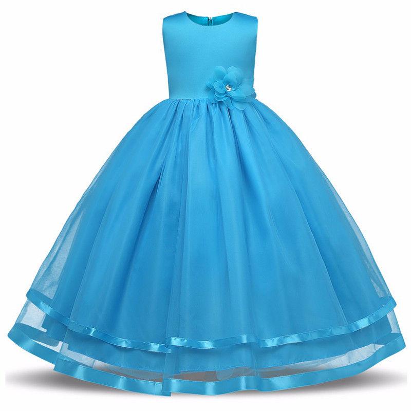 Синий цвет 130 платья для девочек