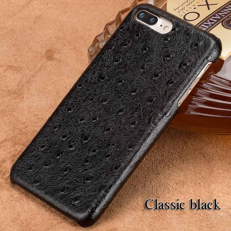 langsidi черный iPhone 6 6s g case ostrich texture card slot leather coated pc case for iphone 6s plus 6 plus black