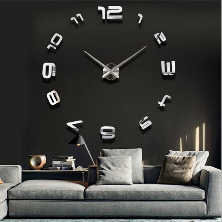 Часы настенные часы настенные часы настенные часы настенные декорации для гостин suwumu Серебристый цвет фото