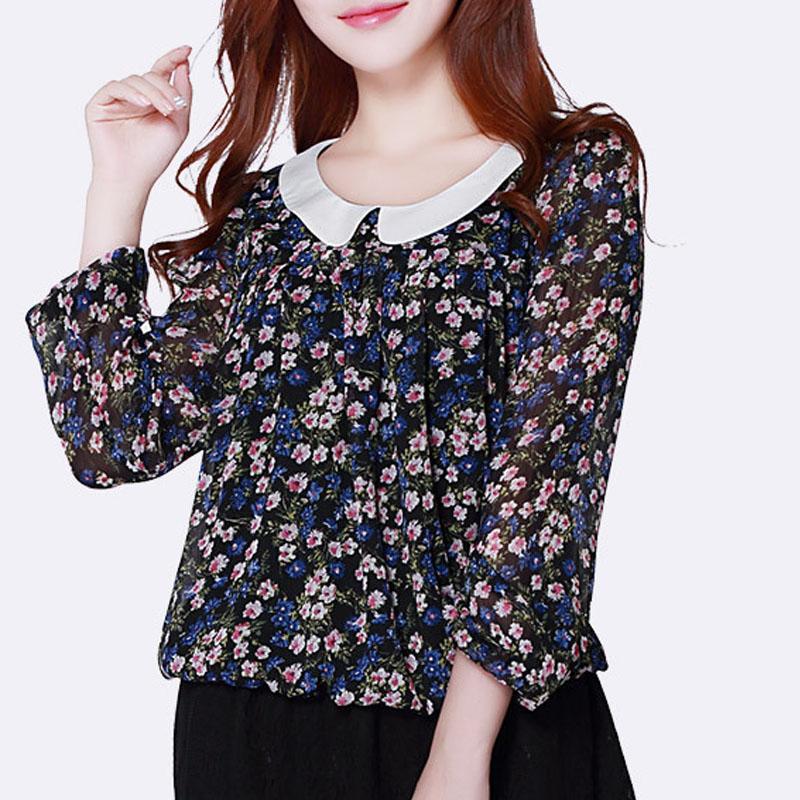 Mink Keer черный XL йемен весна и осень рубашка женская рубашка шифон круглый воротник рубашки 8510110638 белый xl
