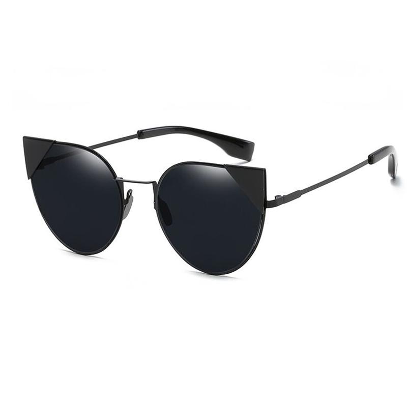 Sisjuly черный Кошачий глаз 2016 women metal frame sexy cat eye sunglasses coating vintage sun glasses female oculos de grau femininos uv400