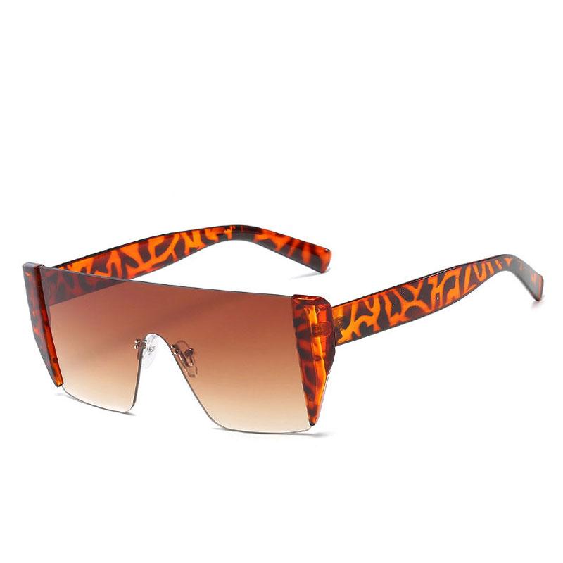 LIKEU S NO5 Demi & Grade Grey Один размер Негабаритные солнцезащитные очки